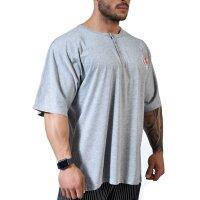 Knopf T-Shirt 6303 graumelange