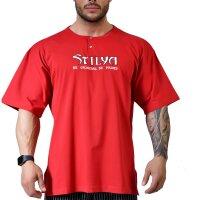 Knopf T-Shirt 6315 bordeaux