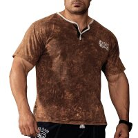 Knopf T-Shirt 2858 Batik braun