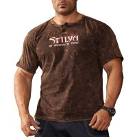Knopf T-Shirt 2860 Batik braun